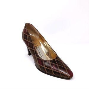 Bruno Magli Woman's 7 B Leather Heels
